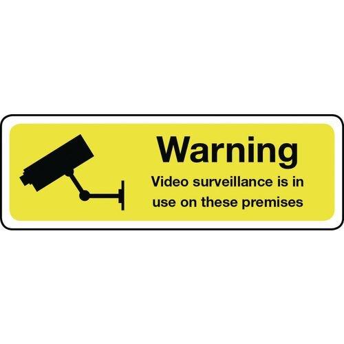 Warning Video Surveillance Aluminium 600x200