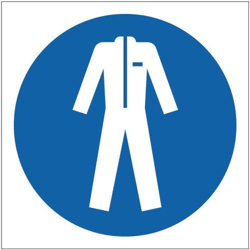 Sign Protective Clothing Pic 100x100 Rigid Plastic