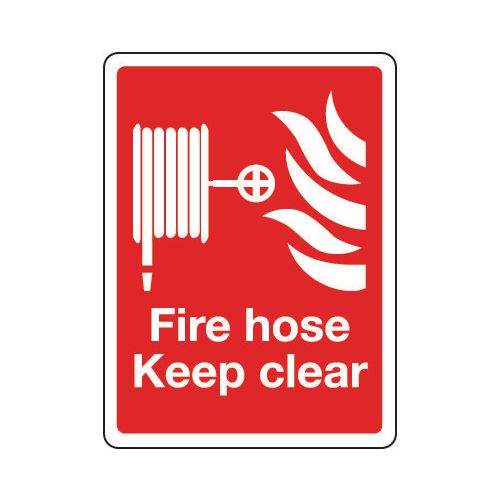 Sign Fire Hose Keep Clear 150x200 Rigid Plastic