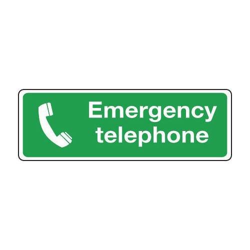 Sign Emergency Telephone 300x100 Rigid Plastic