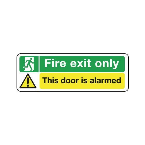 Sign Fire Exit Only This Door Is..300X100 R/D Plastic