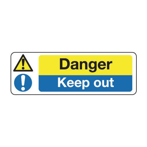 Sign Danger Keep Out 600x200 Rigid Plastic