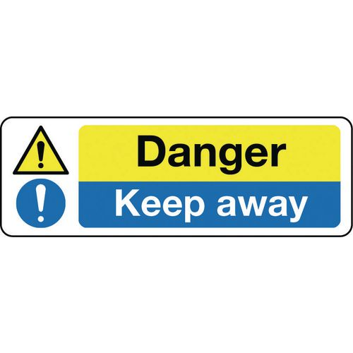 Sign Danger Keep Away 300x100 Rigid Plastic