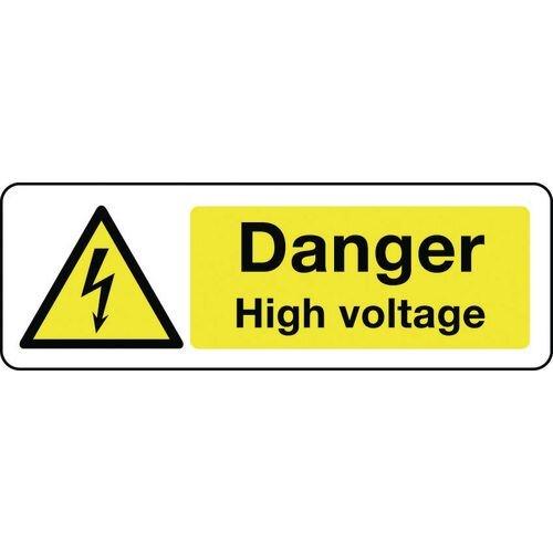 Sign Danger High Voltage 600x200 Rigid Plastic