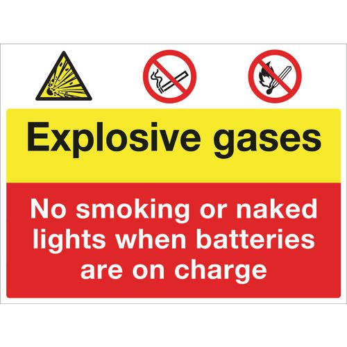 Sign Explosive Gases 600x450 Rigid Plastic