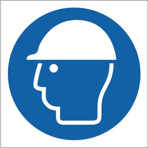 Sign Safety Helmet Pictorial 400x400 Rigid Plastic
