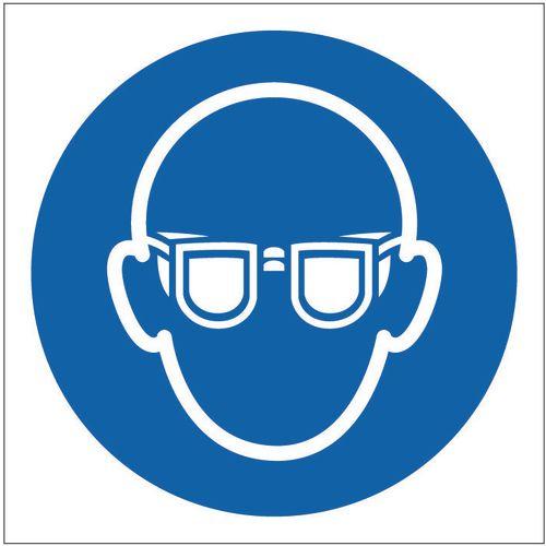 Sign Eye Protection Pic 100x100 Rigid Plastic