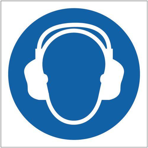 Sign Ear Protector Pictorial 400x400 Rigid Plastic