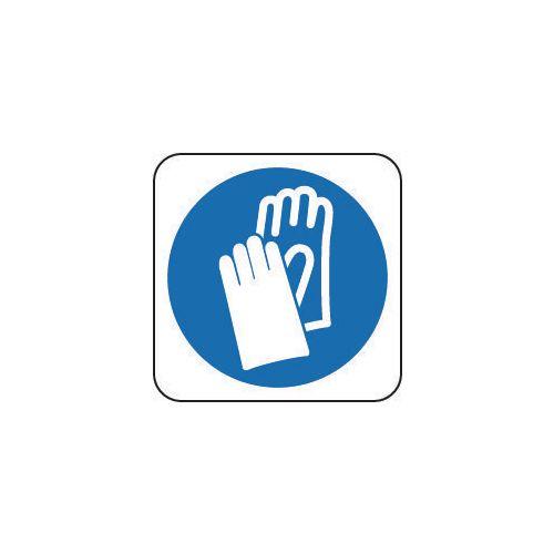 Sign Hand Protection Pic 100x100 Rigid Plastic
