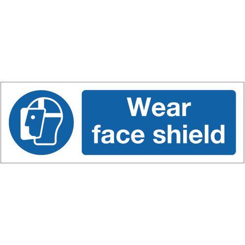 Sign Wear Face Shield 400x600 Rigid Plastic