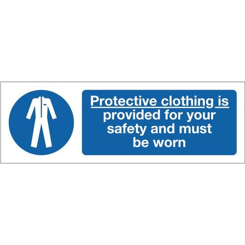 Sign Protective Clothing Is 300x100 Rigid Plastic