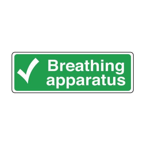 Sign Breathing Apparatus 300x100 Rigid Plastic