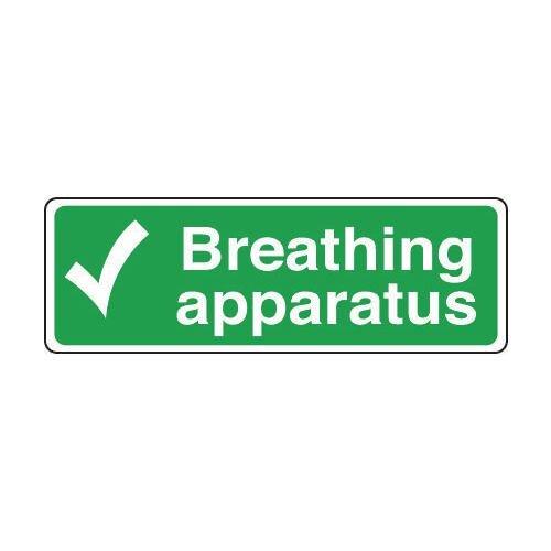 Sign Breathing Apparatus 600x200 Rigid Plastic