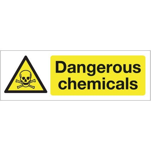Sign Dangerous Chemicals 300x100 Rigid Plastic