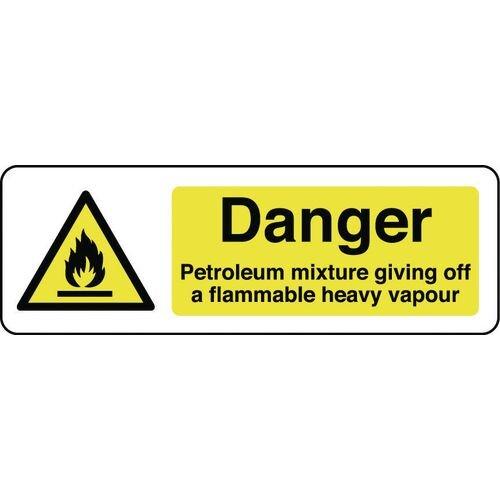 Sign Danger Petroleum Mixture 300X100 Rigid Plastic