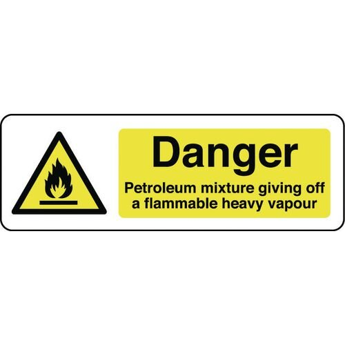 Sign Danger Petroleum Mixture 600X200 Rigid Plastic