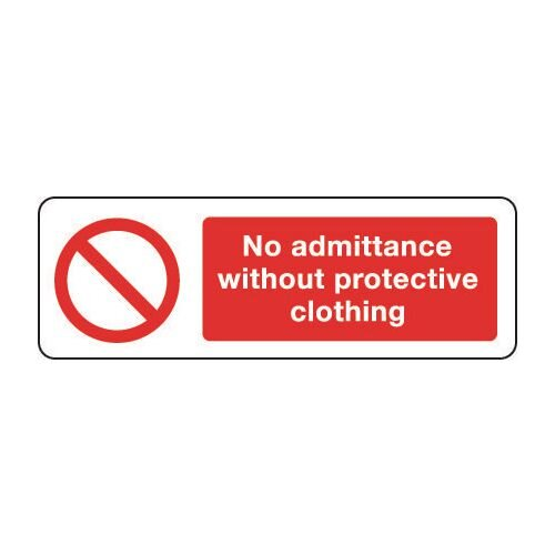 Sign No Admittance Without 600x200 Rigid Plastic