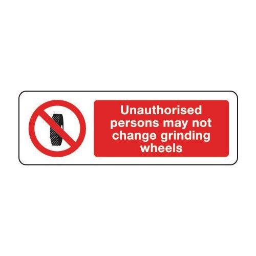 Sign Unauthorised Persons 300x100 Rigid Plastic