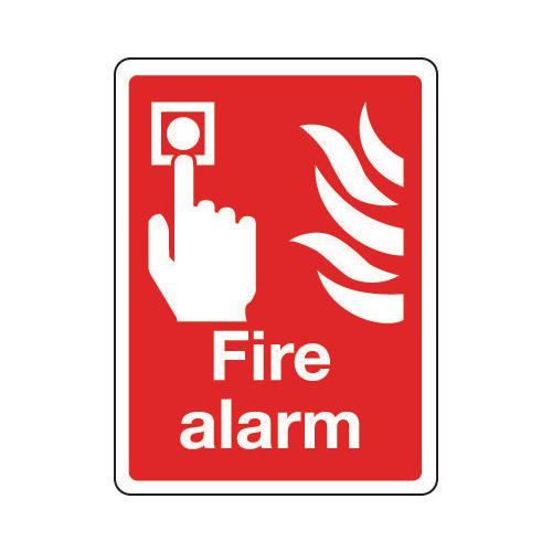 Sign Fire Alarm 150x200 Rigid Plastic