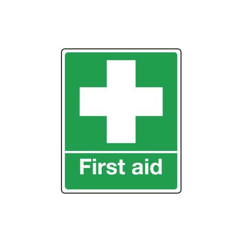 Sign First Aid 75x100 Rigid Plastic Rigid Plastic 75x100 mm