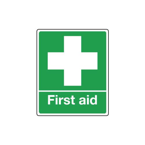 Sign First Aid 250x300 Rigid Plastic