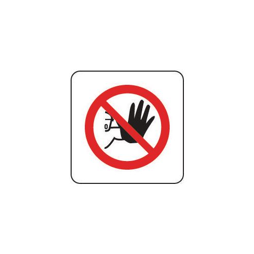 Sign No Admittance Pictorial 100x100 Rigid Plastic