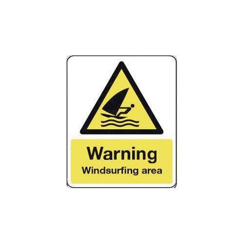 Sign Warning Windsurfing Area 600X450 Rigid Plastic