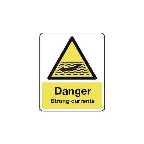 Sign Danger Strong Currents 600X200 Rigid Plastic