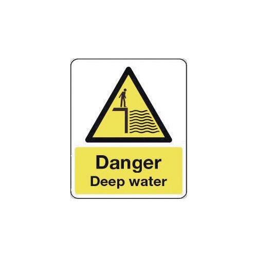 Sign Danger Dep Water 300X100 Rigid Plastic