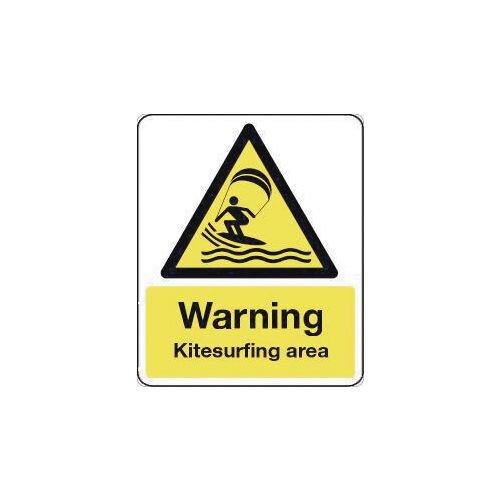 Sign Warning Kitesurfing Area 00X200 Rigid Plastic
