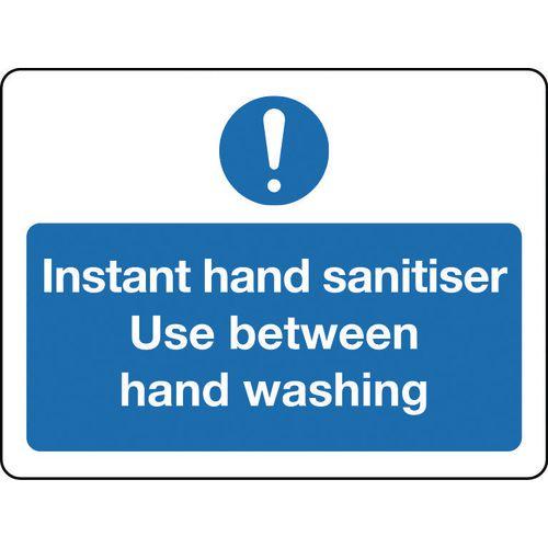 Sign Instant Hand Sanitiser Rigid Plastic 300x100