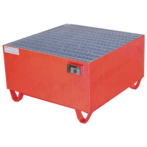 Pallet Sump Painted 800x800x465 With Grid