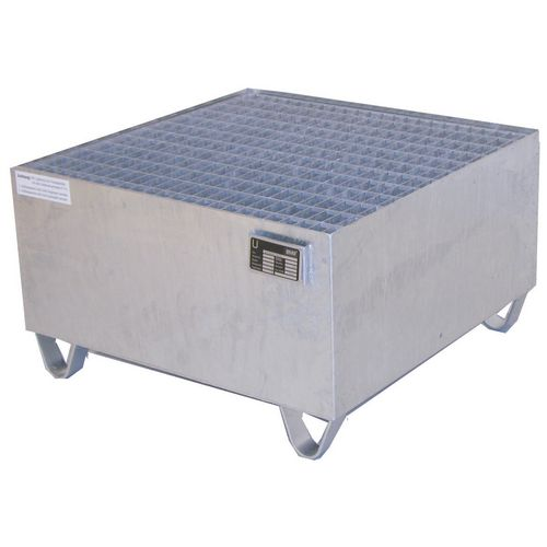 Pallet Sump Galvanised 800x800x465 With Grid