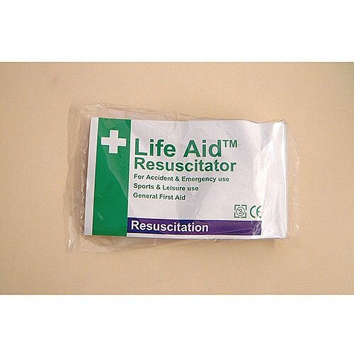 Life Aid Resuscitator Mask With One Way Valve Pack 4