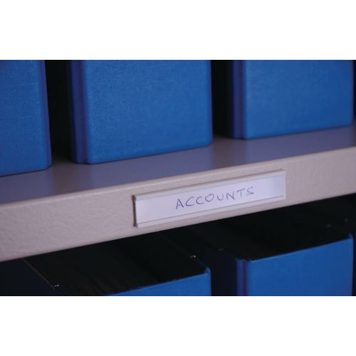 Label Holder Self Adhesive 30X1000-Pk Of 10-White Cards