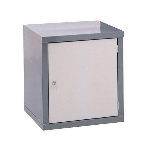 Locker-Heavy Duty Cube C/W Camlock/1 Cube Light Grey Door