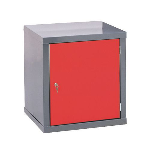 Locker-Heavy Duty Cube C/W Camlock/1 Cube Red Door