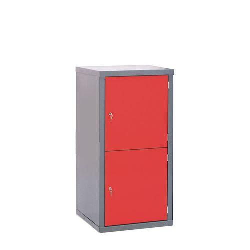 Locker-Heavy Duty Cube C/W Camlock/2 Cube Red Door