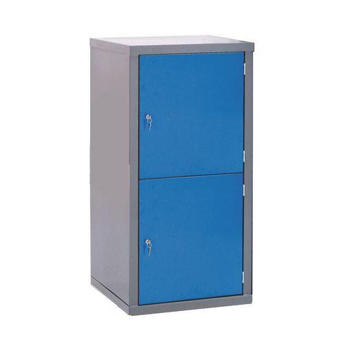 Locker-Heavy Duty Cube C/W Camlock/2 Cube Blue Door