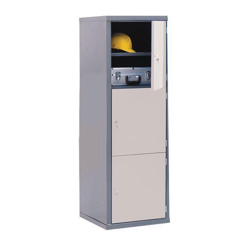 Locker-Heavy Duty Cube C/W Camlock-3 Cube Light Grey Door