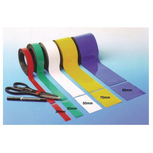 Magnetic Easy Wipe Rack Tape Blue 100x10M Roll