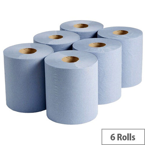 Refill Paper Rolls for Reflex 2-Ply 450 Sheets Blue Pack of 6