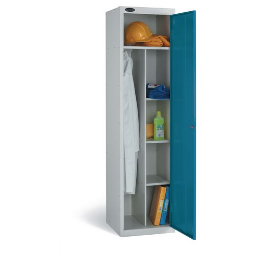 Locker Economy Range Janitors Depth:460mm Silver &Blue