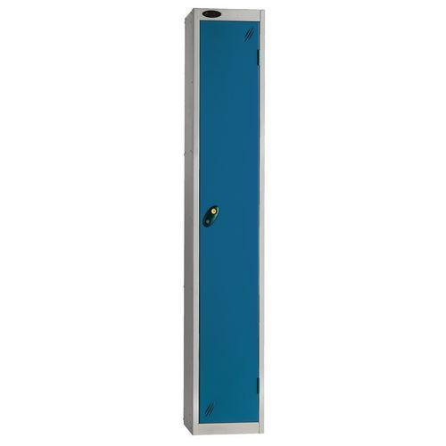 Locker Economy Range 1 Door Depth:305mm Silver &Blue