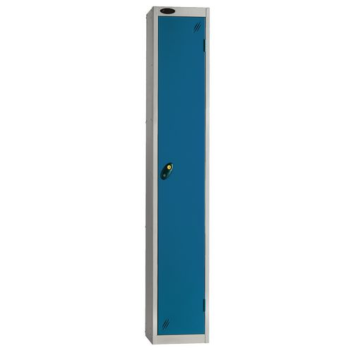 Locker Economy Range 1 Door Depth:460mm Silver &Blue