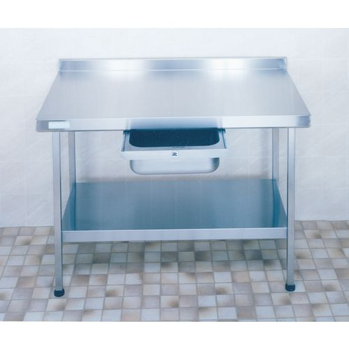 Stainless Steel Preparation Table with Upstand  Wall Table HxWxL 900x650x1200mm