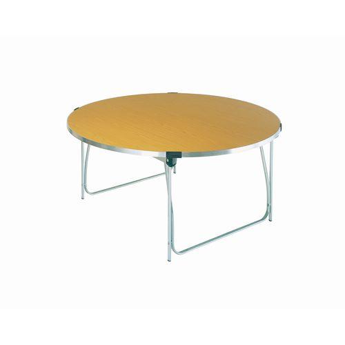 Table Folding Round H:760mm Saxon Oak