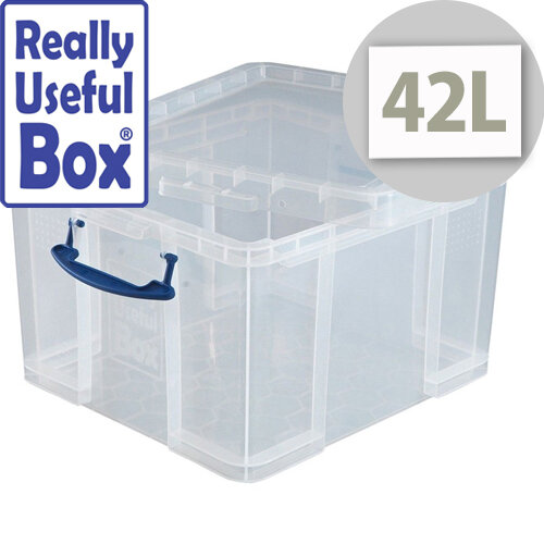 Really Useful Box 42 Litre Capacity Transparent Container