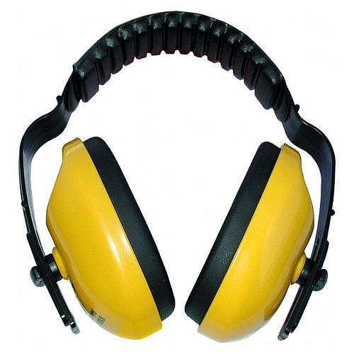 General Purpose Ear Muff Defenders 25bB Noise Ratio Yellow - Lightweight and robust - Durable high impact polystyrene cups - Acoustic foam filled cups offer excellent attenuation