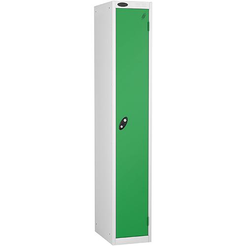1 Door Locker D305mm White Body &Green Door